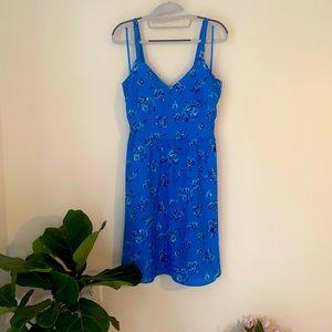 Ann Taylor Loft beautiful blue floral dress